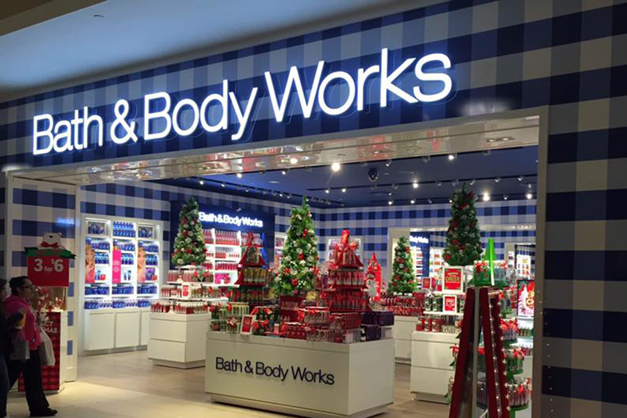 Painted Bath Body Works Store